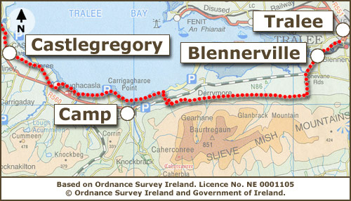 Castlegregory to tralee trail maps dingle way