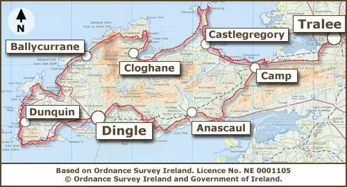 Os Map Of Ireland.An Overview Of The Dingle Way Trail Maps Dingle Way